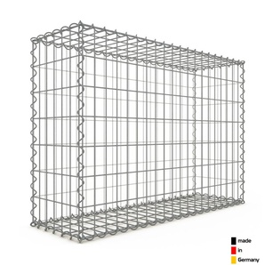 Gabion 100x70x30cm « made in Germany » - mailles rectangulaires 5x10cm - GABIONDECO