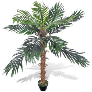 Palmier Artificiel Plastique avec Pot 140 cm - VIDAXL