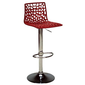 Tabouret de bar design rouge ATRAX - MILIBOO