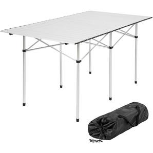 Table pliante de Camping 4 à 6 places 140 cm x 70 cm x 70 cm en Aluminium + Sac de transport - TECTAKE