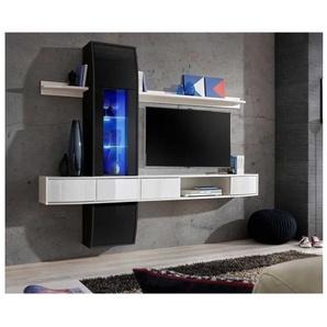 Ensemble meuble salon Design Comet 2 Noir et Blanc. - PRICE FACTORY