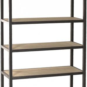 Etagère industrielle bois exotique métal 5 niveaux