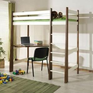 Lit mezzanine Milo personnalisable - Noyer - 80 cm x 190 cm