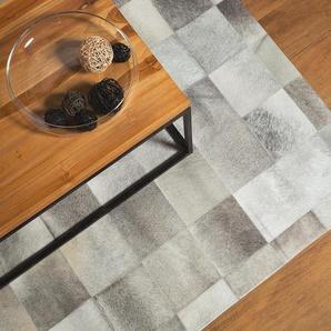 Tapis gris avec motif quadrillé 160 x 230 cm ALACAM