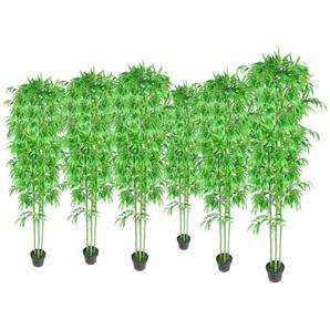 Lot de 6 bambous artificiels 190cm - VIDAXL