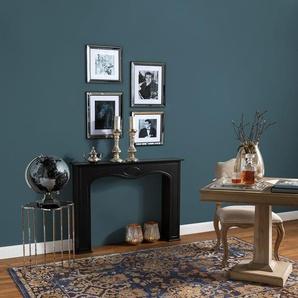 Tapis Vintage Cedar Bleu 200x290 cm - Tapis poil ras / effet usé