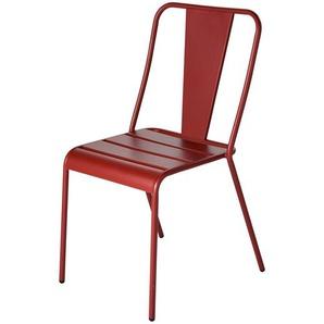 Chaise de jardin en métal terracotta Harrys