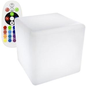 Cube LED RGBW 40cm Rechargeable - LEDKIA
