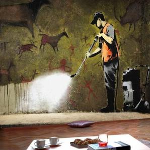 Papier peint - Banksy - Cave Painting