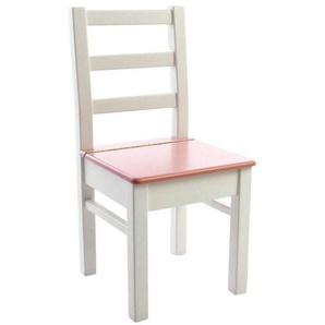 Kinderbunt Lea - Chaise d'Enfant - blanc/rose