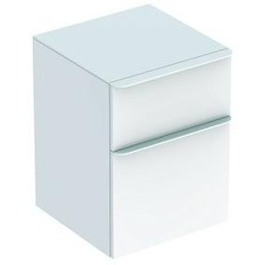 Geberit Smyle Cabinet latéral carré, 500357, 45x60x47cm, avec 2 tiroirs, Coloris: Laque brillante blanche - 500.357.00.1