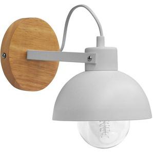 Applique en métal et bois Blanc - PRIVATEFLOOR