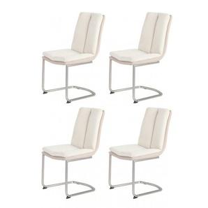 Lot de 4 chaises écru / beige - DOLCE - beige - MEUBLETMOI