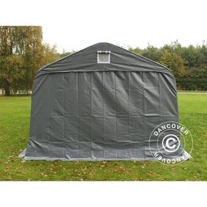 Tente Abri Voiture Garage PRO 3,6x8,4x2,68m PVC, avec couverture de sol, Gris - DANCOVER
