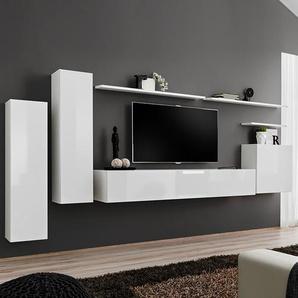 Meuble tv suspendu blanc SOLENDRO 3