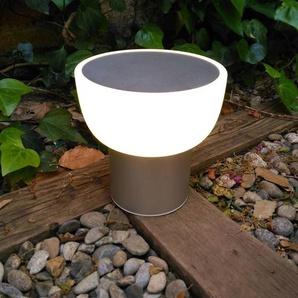 PATIO-Lampe LED dextérieur rechargeable Ø16cm argent Alma Light - designé par Oriol Llahona