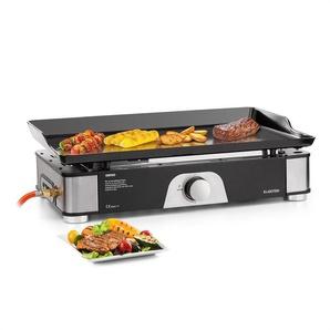 Klarstein Orfeo Barbecue Plancha de table à gaz 3,5 kW 350 ° C Concept InstantReady noir