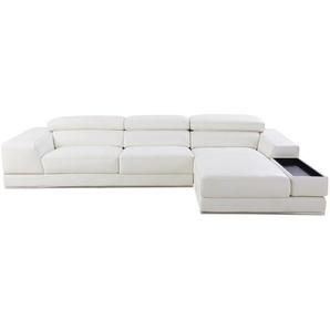 Canapé dangle droit 4/5 places en cuir blanc Chandler