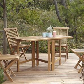 Table de jardin en bois de teck 130 Capri