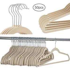 50 Pack Non-Slip cintres en velours pour les manteaux, vestes, pantalons, et Vêtements Robe Hu2800