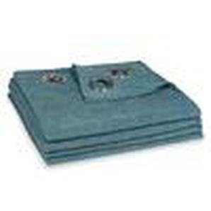 Rideau à illets bleu cobalt à lunité 140x300