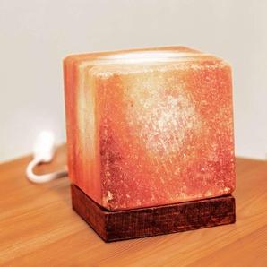 Lampe à poser Kubus à socle en bois