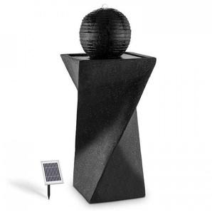 Blumfeldt Fontaine solaire de forme sphérique 200 l/h LED batterie basalte