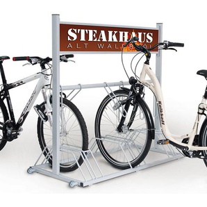 SECURITY STATION support vélo haute sécurité avec panneau publicitaire - couleur du nuancier au choix - CERTEO