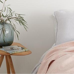 Kit plaid tissé, 130 x 170 cm, rose pâle