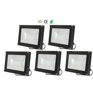 5×Anten 50W Projecteur LED Lumière Extérieur et Intérieur 4000LM Spot LED Étanche IP65 Blanc Froid 6000K Coque Noir