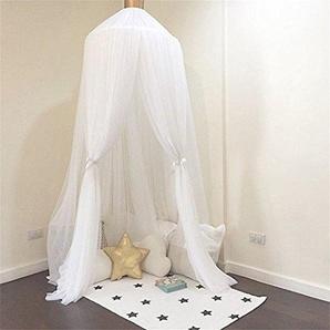 Zantec - Rideaux de lit pour enfants, pour bébé - Moustiquaire - Pour yourte - Décoration dintérieur , blanc