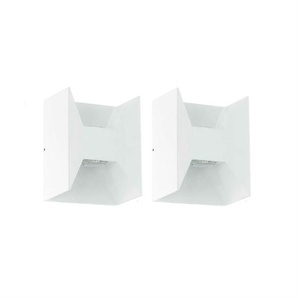 MORINO-2 Appliques dextérieur LED 2 lumières Blanc H18cm Eglo