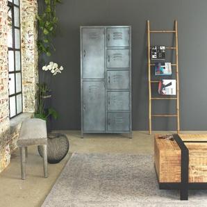 Armoire grise industrielle style casier 7 portes