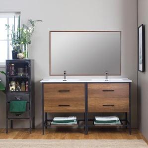 Miroir bois foncé 120 cm - grand modèle