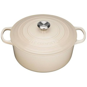 Le Creuset Signature - Cocotte ronde Ø26cm - crème/hauteur sans couvercle: 11,5cm/Convient à toutes les sources de chaleur