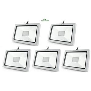 5×Auralum Projecteur à LED Ultraléger 20W pour Éclairage Extérieur et Intérieur Spot IP65 Haute Luminosité 1300LM SMD 3030 Blanc Neutre 4000K