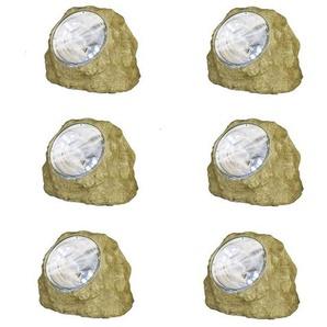 SOLAR STONE-Lot de 6 Rochers Solaire dextérieur LED H16cm Best Season