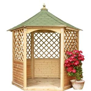 Pavillon de jardin hexagonal toiture en bardeau - 4,74 m² - HABRITA