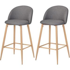 Chaise de bar Cozy grise 72.5 cm (lot de 2) - RENDEZ VOUS DéCO