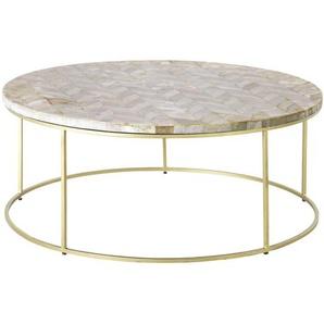 Table basse en pierre motif à chevrons Preciosa