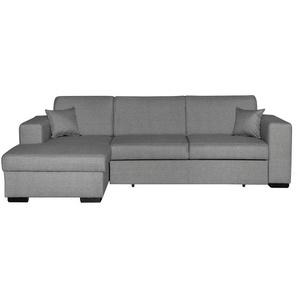 Canapé dangle gauche convertible avec rangement gris PERRY