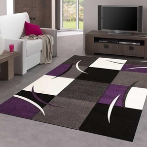 UN AMOUR DE TAPIS - DIAMOND COMMA - 200x290 cm - Grand tapis Moderne Design - Tapis salon et salle a manger - tapis violet, gris, noir, créme - Couleurs et Tailles Disponibles - UNAMOURDETAPIS