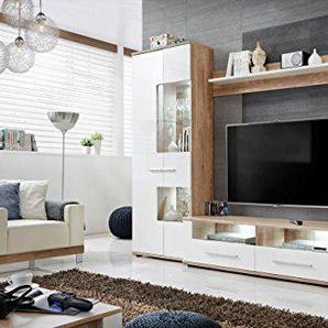 DUSINE.FR Meubles rangements Sohalia avec Armoire pour Salon TV LED