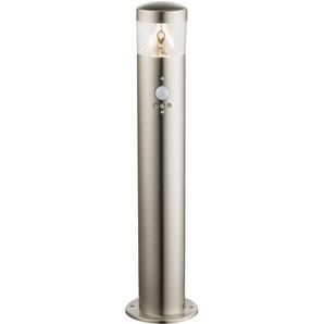 Un lampadaire en inox à DEL avec un détecteur de mouvement - GLOBO