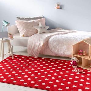 Tapis enfant Noa Kids Love Rouge 160x230 cm - Tapis pour chambre denfants/bébé