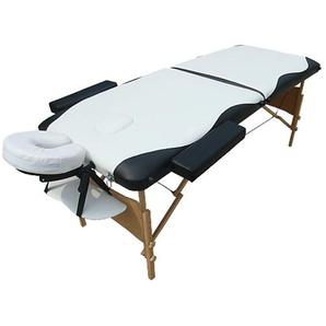 Canapé de massage mobile 2 zones avec sac, canapé cosmétique, pliable blanc/noir, nouveau - MUCOLA
