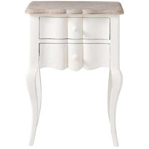 Table de chevet avec tiroirs en manguier blanche L 48 cm Martigues