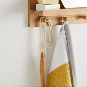 Aiko, lot de 2 draps de bain 100% coton, gris et jaune moutarde