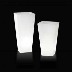Y-POT LIGHT-Pot lumineux dexterieur H150cm et L75cm Blanc Slide