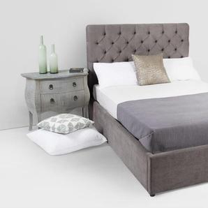 Skye, lit king size (160 x 200) avec sommier et rangement, gris étain